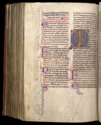 Illuminated Initial And A Reference To Coldingham, In The Coldingham Breviary